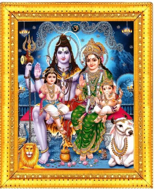 BCOMFORT Shiv parivar Religious Frame