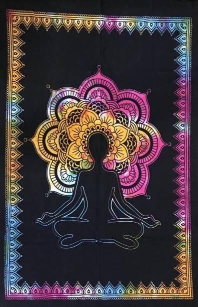 Heyrumbh Handicrafts Yoga Meditation Mandala Hippie Psychedelic Boho Bohemian Cotton Decorative Wall Hanging Tapestry Tapestry