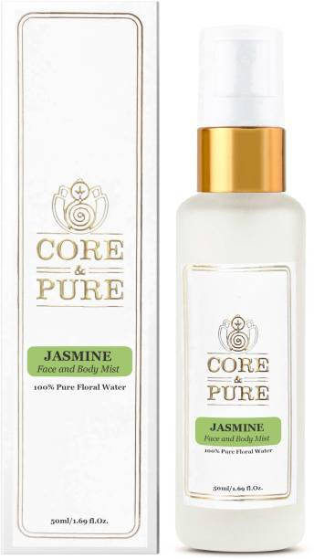 CORE & PURE Jasmine Floral Water- Excellent Toner for Dull & Matured Face, 100% Natural Essential Oil Hydrosol Men & Women