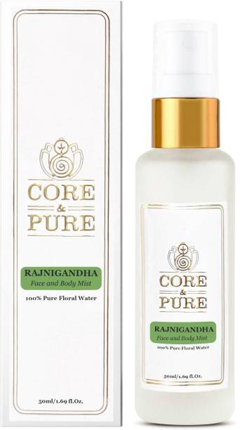 CORE & PURE Rajnigandha Floral Water- Best for Wrinkled & Matured Face- 100% Natural Essential Oil Hydrosol Men & Women