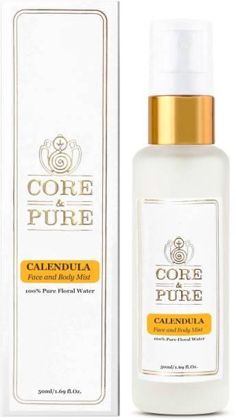 CORE & PURE Calendula Floral Water, Excellent Toner for Sensitive Face- 100% Natural Essential Oil Hydrosol Men & Women