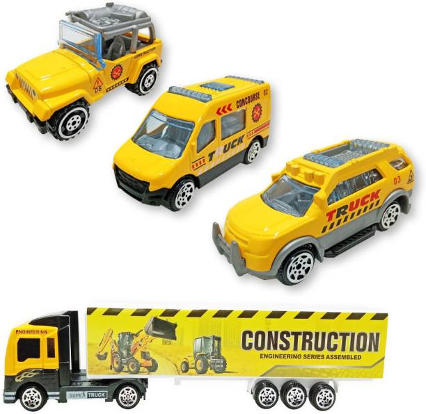 Toy Shack Construction Truck Vehicle Container Car Toy Set for Children Kids