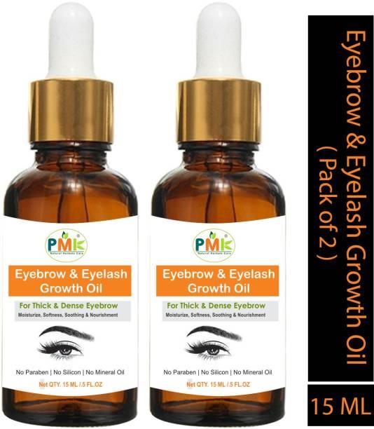 PMK Eyebrow & Eyelash Growth Oil For Women (Pack of 2) 15 g