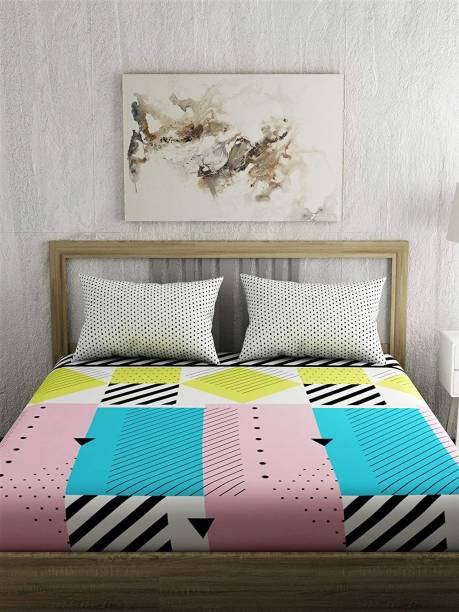 PORTICO NEW YORK 200 TC Cotton King Printed Bedsheet