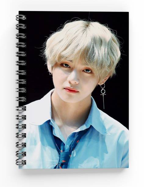 MG Brand BTS BANGTAN BOYS Spiral Bounded Rulled Notebook Diary A5 SIZE A5 Notebook Ruled 200 Pages
