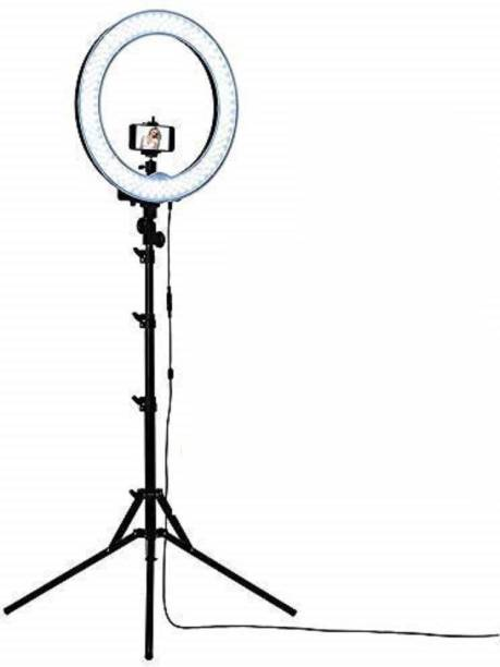 PULUZ Selfie Ring Light for Smartphone for Photo & Video at Tiktok, Musically and Other App with long 6.5 feet Stand Ring Flash Ring Flash