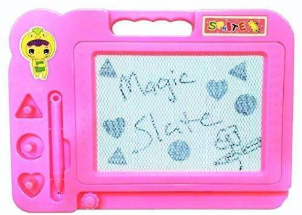Kaushik Magic Slate for Kids Pen Doodle Pad Erasable Drawing Easy Reading Writing Learning Graffiti Board Kids Gift Toy Magnetic Painting Sketch Pad for Baby Children