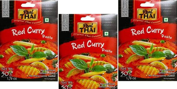 Real Thai Red Curry Paste (Pack Of 3) 50*3,150g