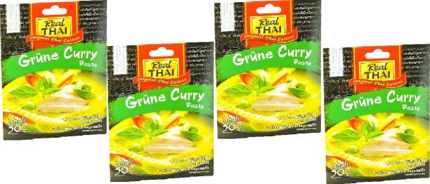 Real Thai Green Curry Paste (Pack Of 4) 50*4, 200g