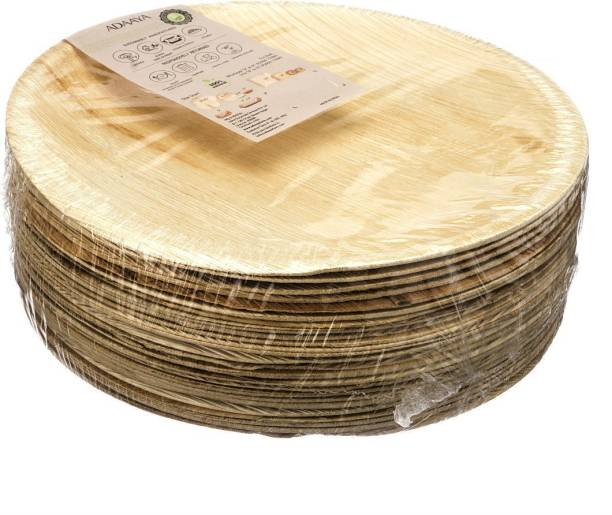 Adaaya Farms Palm Round Dinner plate 10.25 Inch set of 25 Dinner Plate