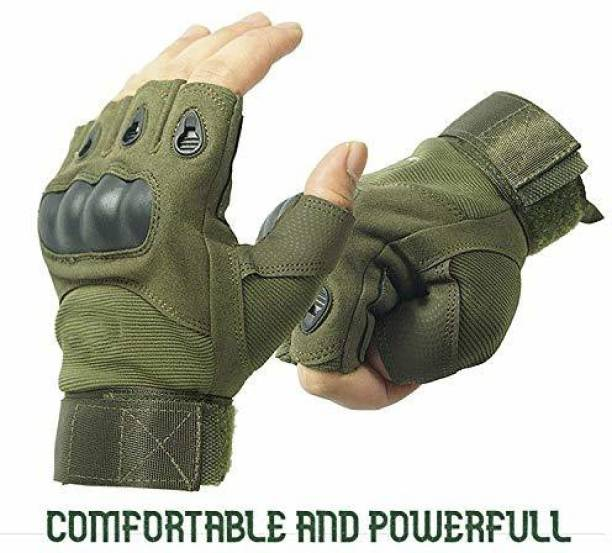 Leosportz actical Fingerless Gloves for Motorbike Motorcycle Cycling Climbing Hiking Hunting Cycling Gloves