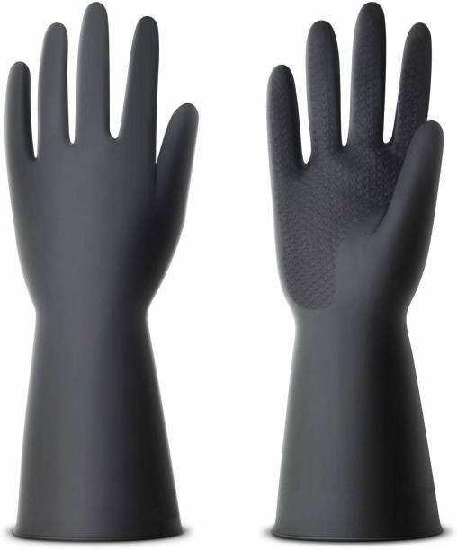 KK plast Safety Gloves Rubber Safety Gloves Wet and Dry Disposable Glove