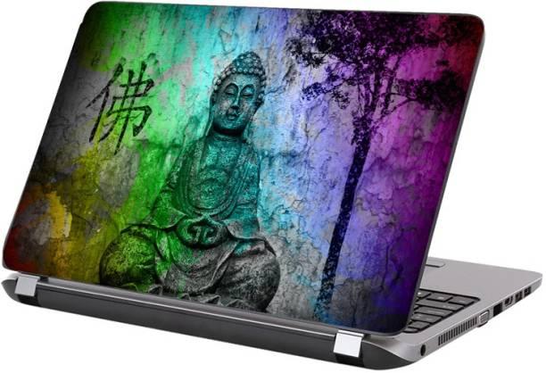 KALARKARI Laptop Skin Multicolor Lord Buddha Premium vinyl HD printed Easy to Install Laptop Skin/Sticker/Vinyl/Cover for all size laptops vinyl Laptop Decal 15.6