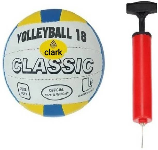 clark 432 Classic volleyball with air pump Volleyball - Size: 4