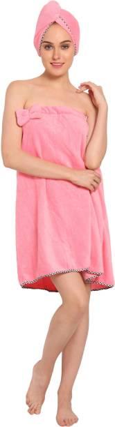Muren Pink Free Size Bath Robe