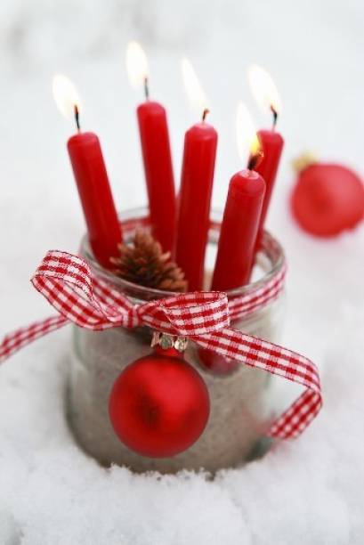 AuraDecor Pack of 50 Red Celebration Candles , Christmas Candles, Valentine Candles, Dinner Candles House Hold Candles, Daily Use Purpose Candle