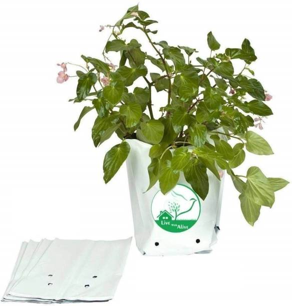 live with alive Grow Bags (Set of 10) Extra Large 100% Pure Virgin Grow Bags UV Stabilized Extra Strong Size;L16 X W16 X H30CM and Free!!! Mixed Vegetables Seeds Grow Bag