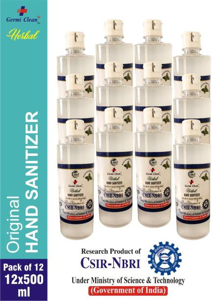 Germi clean plus Herbal hand Sanitizer gel, Research product of CSIR-NBRI under ministry of science and technology (Goverment of India) Hand Sanitizer Bottle