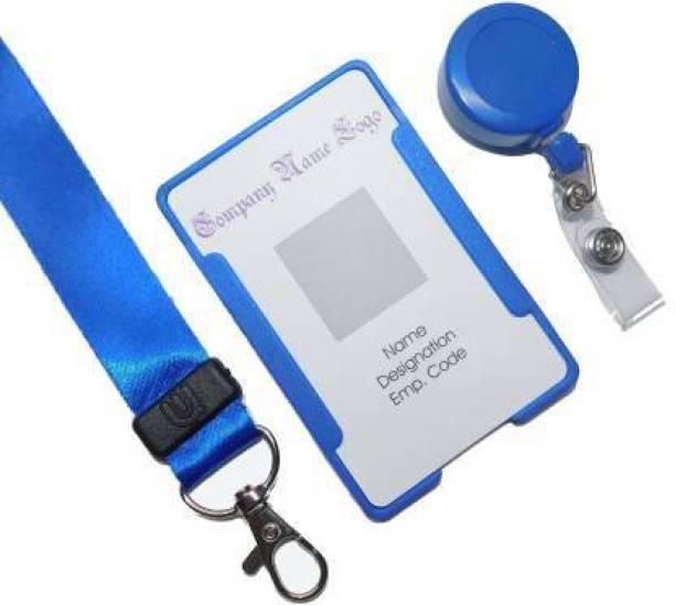 Ang Plastic ID Badge Holder, ID Badge Reel, Lanyard
