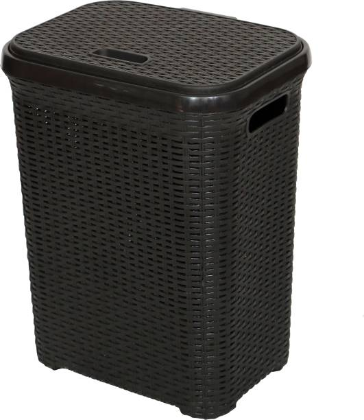 Esquire 50 L Black Laundry Basket