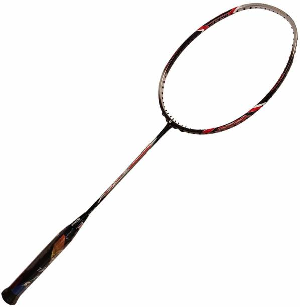 apacs Turbo Power 999 Unstrung Graphite Badminton Racquet, 38 LBS Mega Tension Black, Red Unstrung Badminton Racquet