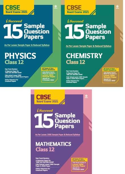 Arihant CBSE 15 Sample Paper Physics Chemistry Mathematics Class 12 For 2021 Exam With Reduced Syllabus