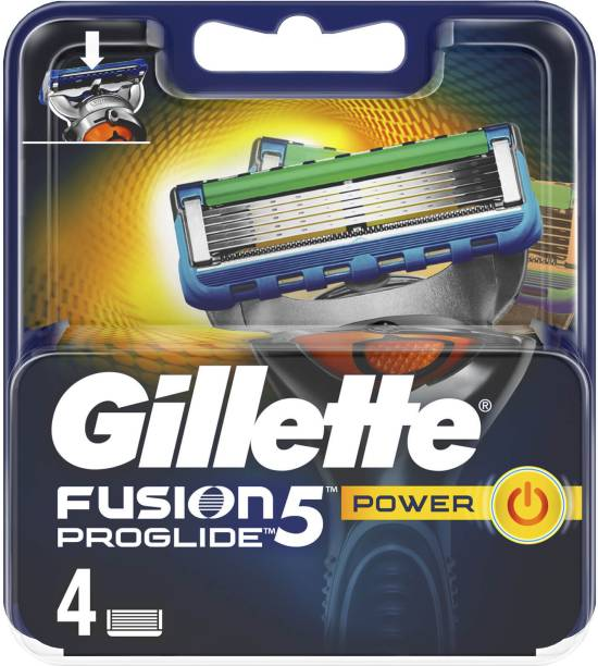 GILLETTE Fusion 5 Proglide Power 4 Pack (Made in Germany)
