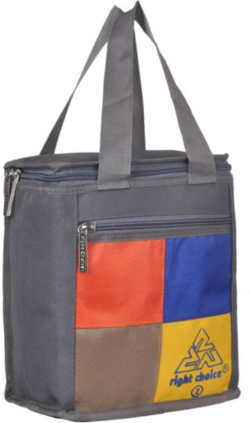 RIGHT CHOICE Lunch Tiffin Bags ( GREY 3032 ) Branded Premium Quality Carry on Tote for School Office Picnic Travel Camping Outdoor Pouch Holder Handbag Compact Heat Preservation Waterproof Hygiene Meal Prep Box Bag for Men Women and Kids, Small Travel Bags - Medium Size Waterproof Lunch Bag Waterproof Lunch Bag