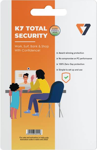K7 Total Security 1 User 1 Year
