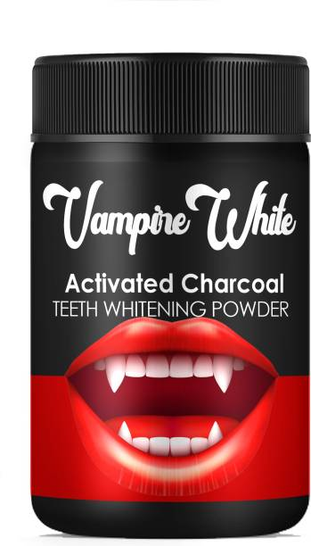 Sqincare Vampire White Activated Charcoal Teeth Whitening Powder