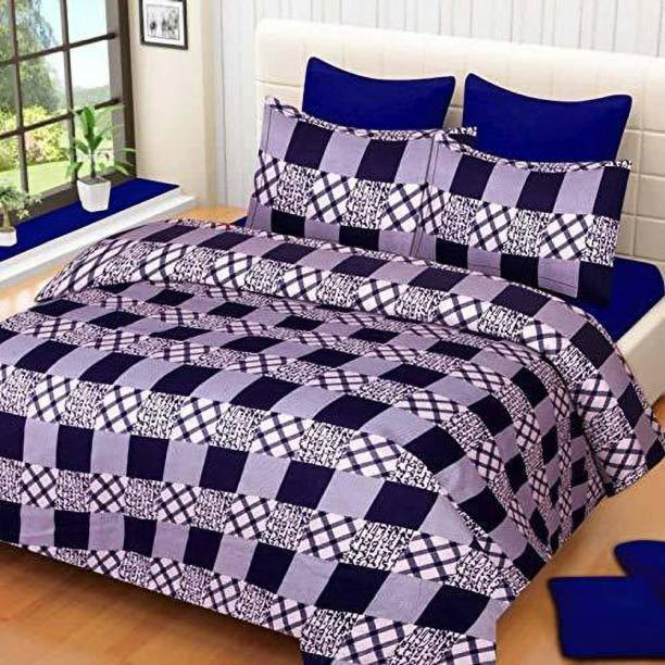 iws coottn 144 TC Polycotton Double Checkered Bedsheet