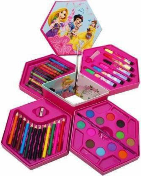 Oraisportsmart all in one 46 Pieces Art Craft Kit Shaped Color Pencils
