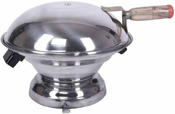 waheguru Waheguru Aluminium Tandoor Baking Bati Maker ( Gas Oven, Jali, Chimta, Wooden Handle) Induction Bottom Cookware Set