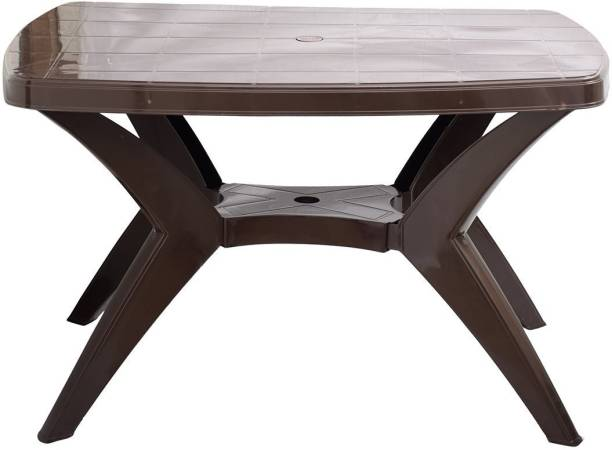 Binani Supreme Melody Cross Leg Modern Heavy Plastic 4 Seater Dining Table for Home, Restaurants, Cafeterias and Outdoor Areas Plastic 4 Seater Dining Table