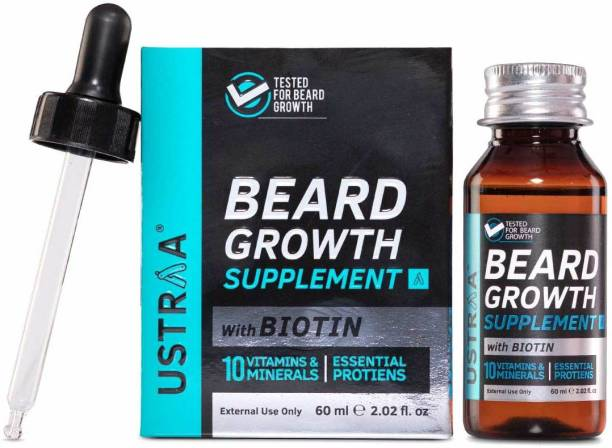 USTRAA Beard Growth Supplement Hair Oil