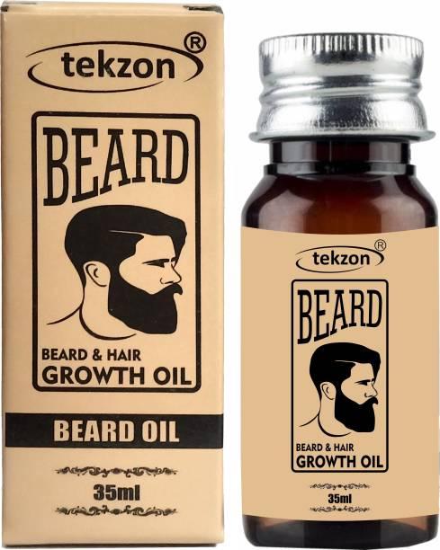 tekzon Beard Hair Growth Oil - Blend of 10 Natural Oils Hair Oil