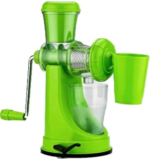 MYYNTI Plastic Hand Juicer Fruit and Vegetable Juicer, Manual Juicer, Hand Juicer, Non Electric Juicer with Steel Handle and Waste Collector