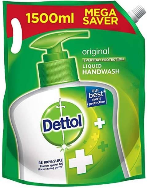 Dettol ORIGINAL 1500ML Hand Wash Refill Pouch