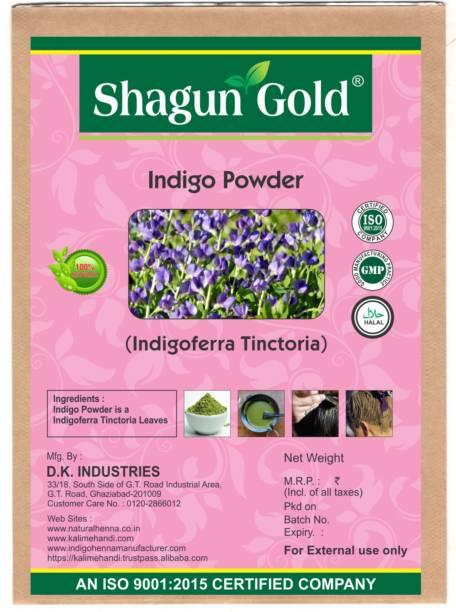 SHAGUN GOLD 100% Natural Pure Indigo (black ) Hair Colouring 1 Kg