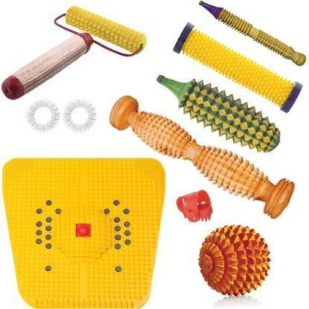 Cure18 CURE43 Acupressure Massage Tools Kit Combo with Power Mat , Foot Roller , Hand Roller And Other Body Massage Products Massager