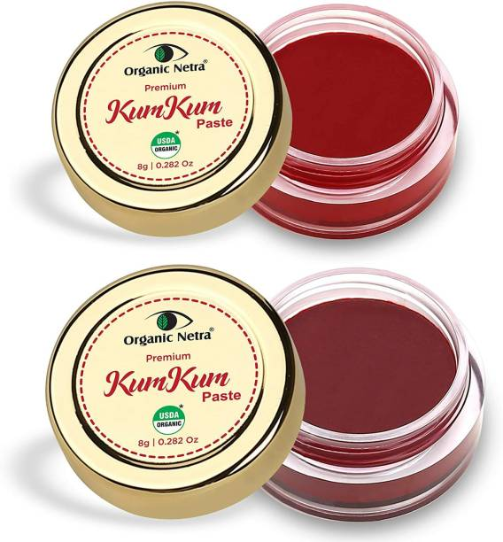 Organic Netra Sindoor/KumKum Paste - 100% Chemical Free, All Natural, No Lead, No Mercury, No Parabens, Water Resistant Kumkum