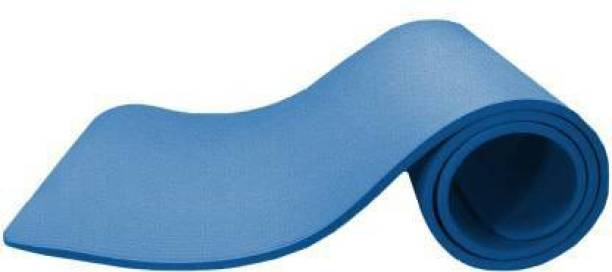 GROVERTEXOFAB BLUE ANTI SKID PREMIUM 4 mm mm Yoga Mat