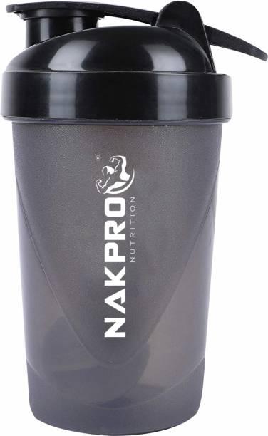 Nakpro Shaker bottle for protein shake, Leakproof Guarantee, Food Grade & BPA 500 ml Shaker