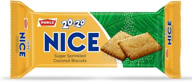 PARLE 20-20 Nice Sugar Sprinkled Coconut Biscuits