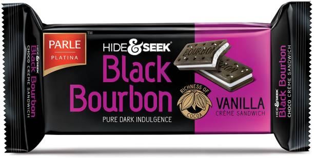 PARLE Hide & Seek Black Bourbon Vanilla Creme Sandwich