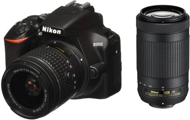 NIKON D3500 DSLR Camera Body with Dual lens: 18-55 mm f/3.5-5.6 G VR and AF-P DX Nikkor 70-300 mm f/4.5-6.3G ED VR