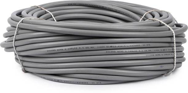 Oxcord 2 core Round Copper Wires and Cables 4mm 60 meter Grey 60 m Wire