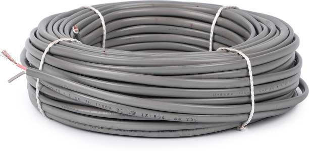 Oxcord PVC 1.5 MM Twin Flat 2 Core Grey 180 ft. Wire