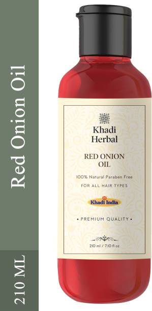 Khadi Herbal Premium Red Onion Hair Oil Preventing Hair Loss & Promoting Hair Growth (Pack Of-1) Hair Oil
