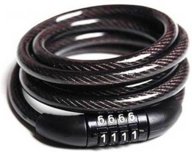 Gacher Special Premium NumLock, Black, Bicycle 4 Letters Number Lock, Cycle Lock